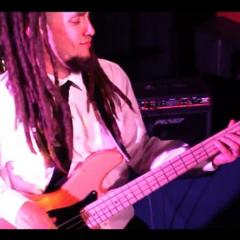 Sidge on the bass